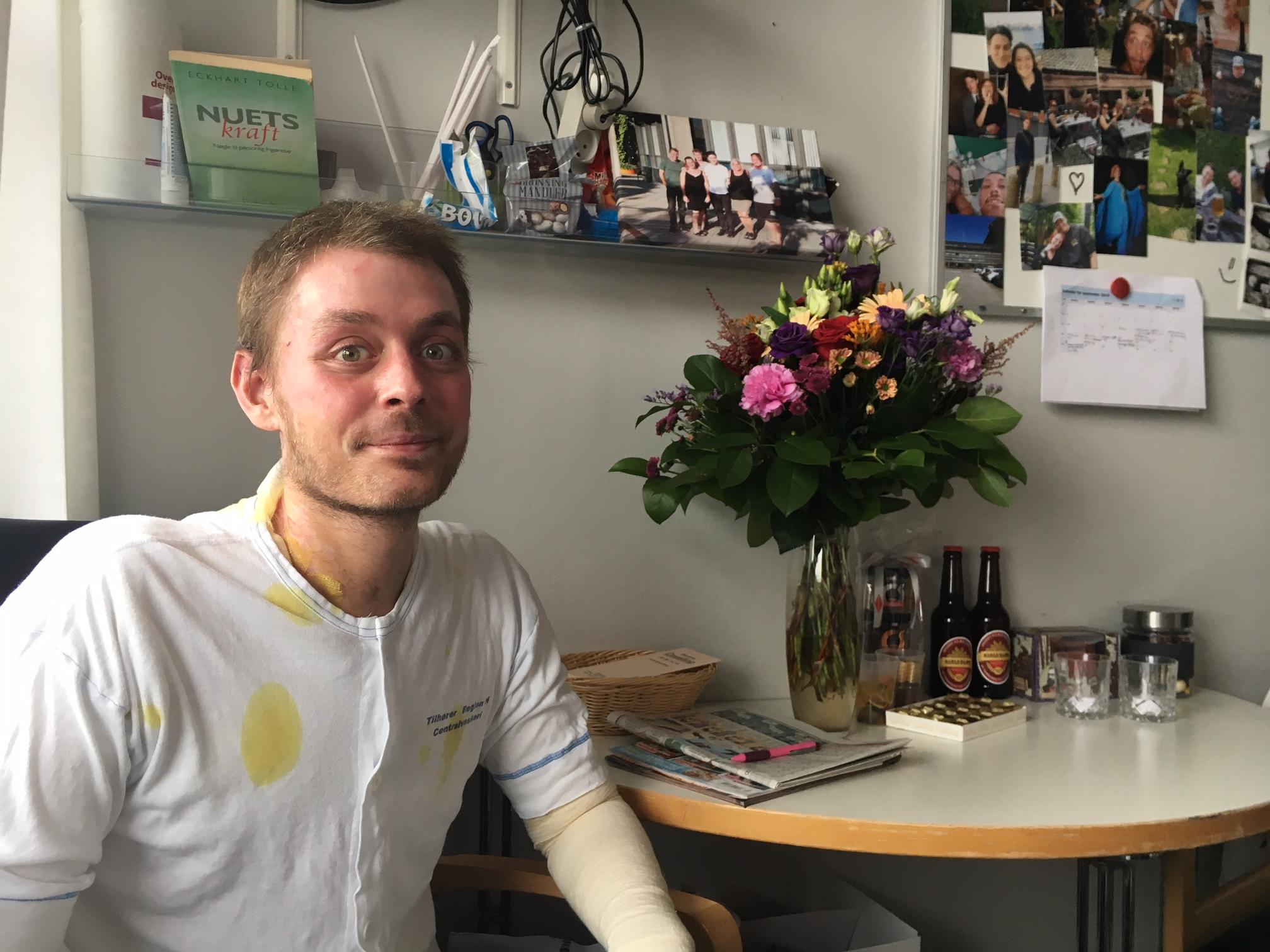 Jack på sin stue på sengeafsnittet (Foto: Katrine Norborg).